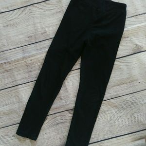 Girls LuLaRoe solid black leggings sz L/XL